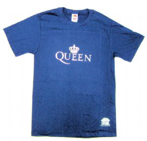 Queen Silver Crown Mens Navy Blue T-Shirt